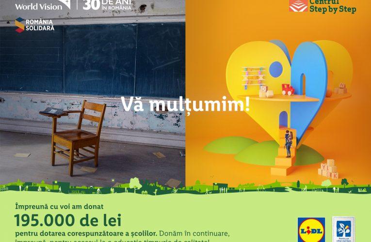 Lidl organizează o nouă campanie de strângere de fonduri dedicată centrului Step by Step