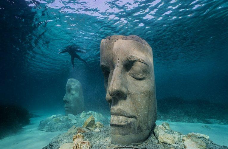 Muzeul subacvatic din Cannes prezintă sculpturi create după chipurile localnicilor