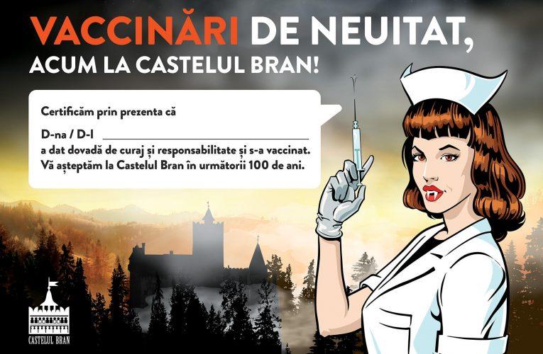 Castelul Bran deschide un centru de vaccinare fără programare la Vama Medievală