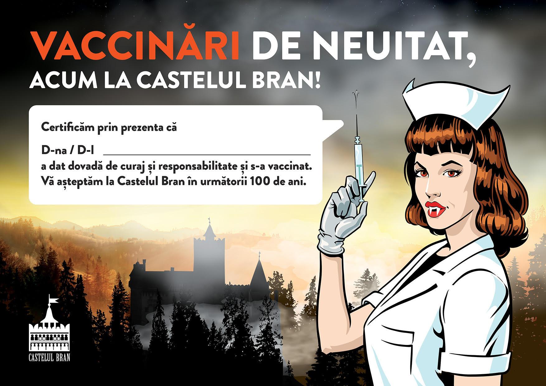 Castelul Bran campanie de vaccinare